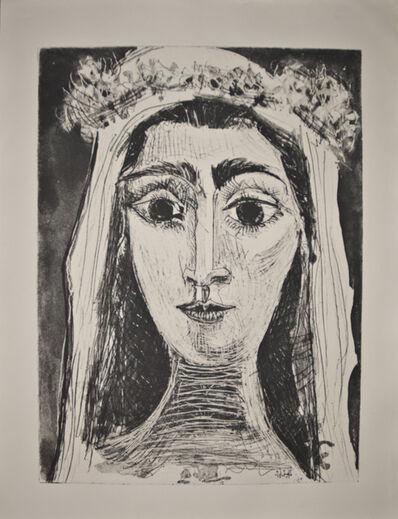 Pablo Picasso, 'Jacqueline en Mariée, de face I (6th state of 18)', 1961