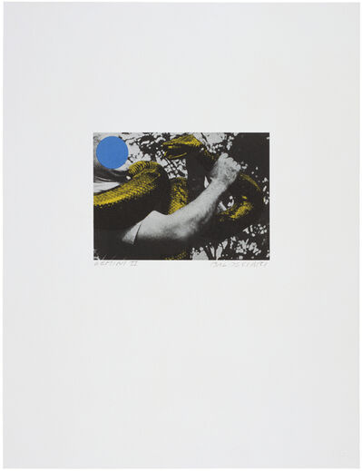 John Baldessari, 'Man with Snake (Blue and Yellow)', 1990
