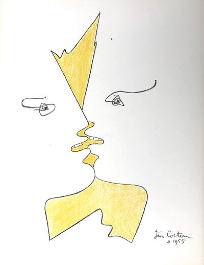 Jean Cocteau, 'The Kiss', 1955