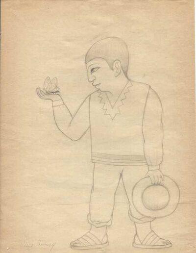 Diego Rivera, 'Niño con Mariposa', 20th Century