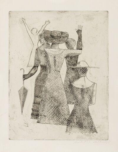 Massimo Campigli, 'L'Incontro II (Meloni/Tavola 8)', 1932