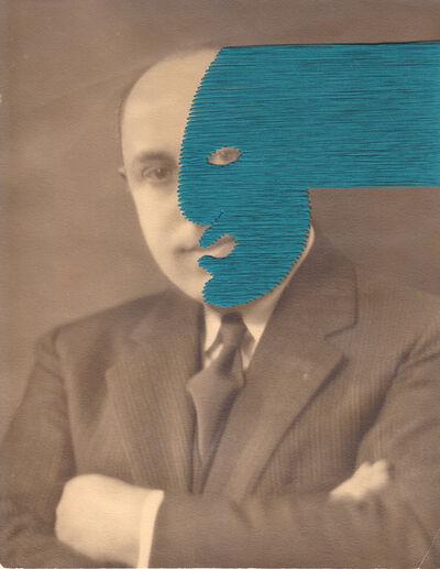 Maurizio Anzeri, 'Untitled (Blue Green)', 2019