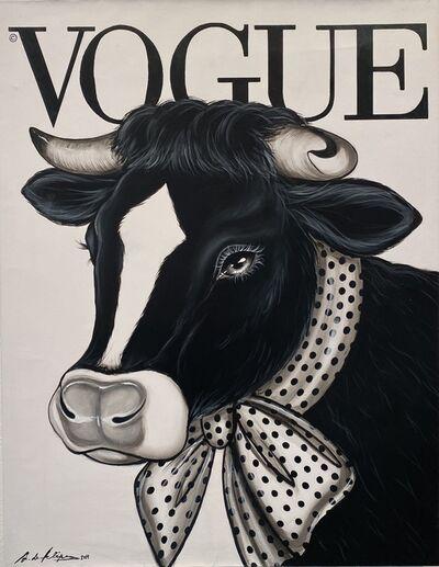 Antonio de Felipe, 'Vaca Vogue fondo blanco', 2019