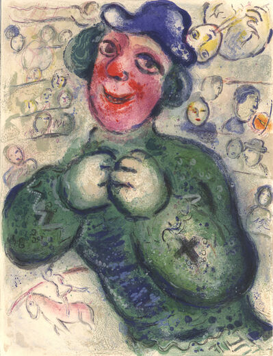Marc Chagall, 'The green Clown', 1967