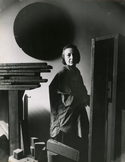Dan Budnick, 'Louise Nevelson in her Studio', 1964