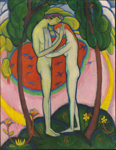 William Zorach, 'Spring in Central Park (recto)', 1914