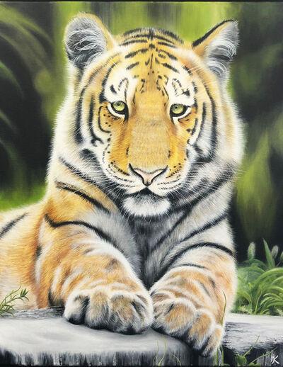 Kalipeinture, 'Tigre de Sibérie', 2019