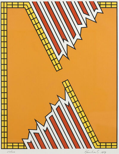 Nicholas Krushenick, 'Deep Down Orange', 1979