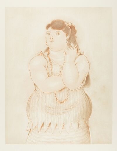 Fernando Botero, 'Mujer Fumando', 1965
