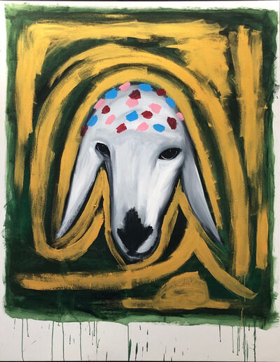 Menashe Kadishman, 'Golden Sheep', ca. 1980