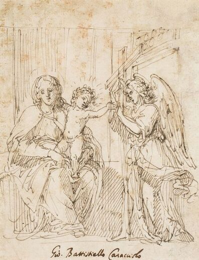 Giovanni Battista Caracciolo called Battistello, 'Virgin with Child and an angel carrying a cross', 1620-1630