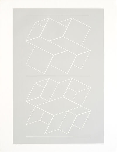 Josef Albers, 'White Embossings on Gray (WEG)', 1971