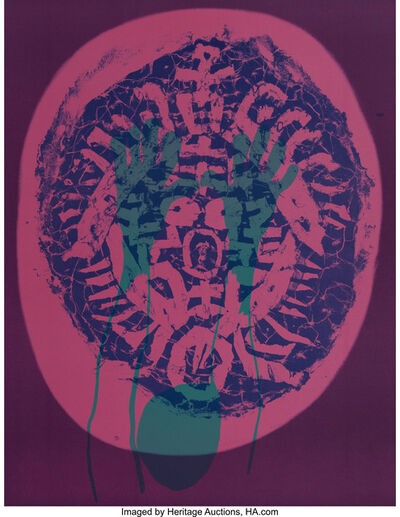 Nam Kwan, 'Human Mask, from Official Arts Portfolio of the XXIVth Olympiad, Seoul, Korea', 1988