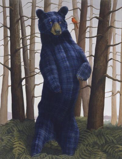 Sean Landers, 'Sincerity and Empathy (Black Bear and Cardinal)', 2014