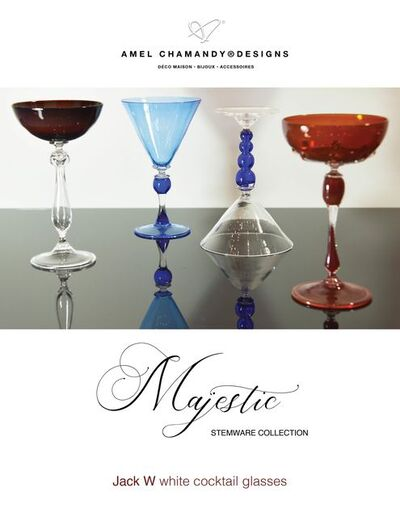 Amel Chamandy, 'Jack W™ Cocktail glass set from the Majestic Collection', 2021