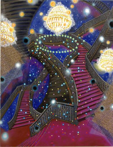 "Michiko Itatani, '""Ascending Order"" painting from Cosmic Theater AO-1', 2014"