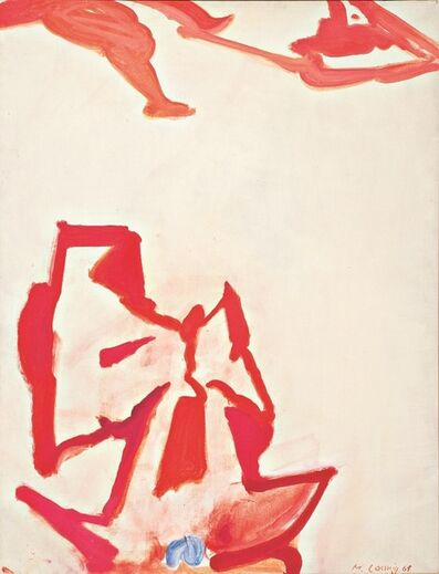 Maria Lassnig, 'Die blaue Blume der Romantik', 1961