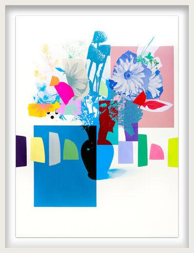 Emily Filler, 'Paper Bouquet (black vase + blue flowers)', ca. 2021