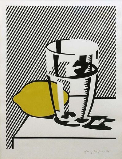 Roy Lichtenstein, 'UNTITLED (STILL LIFE WITH LEMON AND GLASS)', 1974
