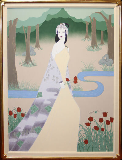 Lilian Shao, 'Woman with Red Tulips', 1985-1999