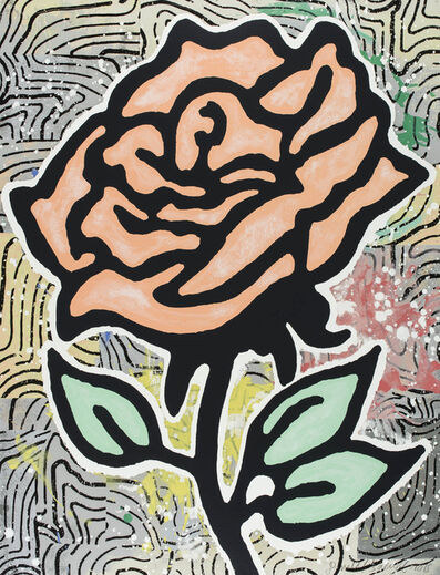 Donald Baechler, 'Peach Rose', 2015