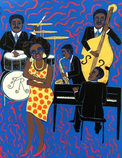 Faith Ringgold, 'Jazz Stories: Mama Can Sing Papa Can Blow #8: Don't Wanna Love You Like I Do', 2019