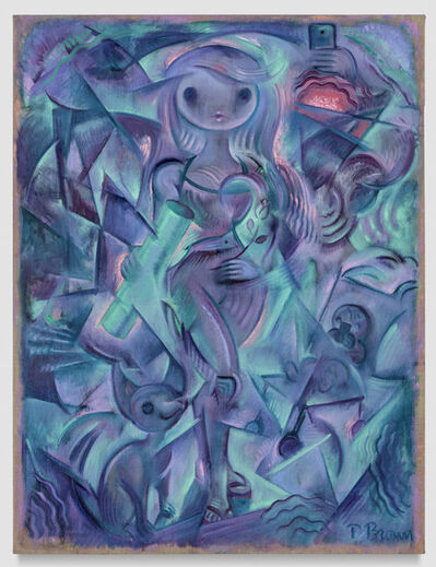Delia Brown, 'Composition in Aqua and Lilac', 2018