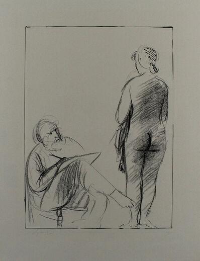 Giacomo Manzù, 'Pittore e modella', 1965