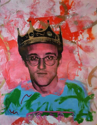 Skyler Grey, 'King Haring Blue Shirt', 2014