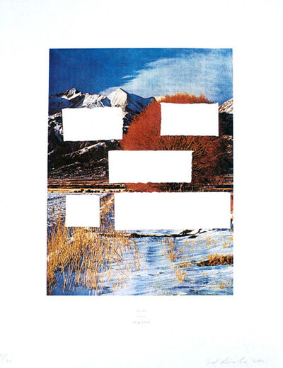 Ed Ruscha, 'Country Cityscapes: Do as Told or Suffer', 2001