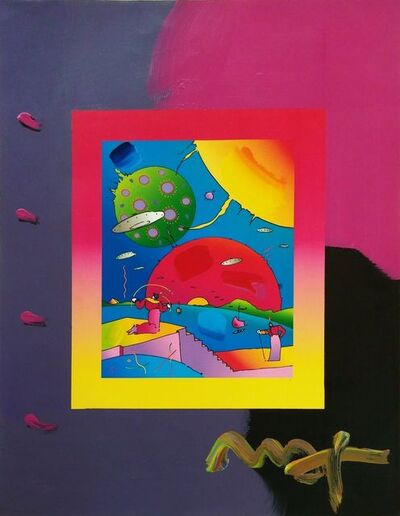Peter Max, 'YEAR OF 2250 (OVERPAINT)', 2006