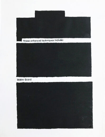 Jenny Holzer, 'These Enhanced Techniques', 2012