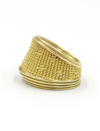 Mary Lee Hu, 'Woven Gold Ring'