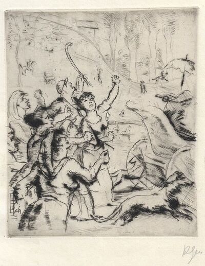 Robert Genin, 'Zorniges Volk', 1918