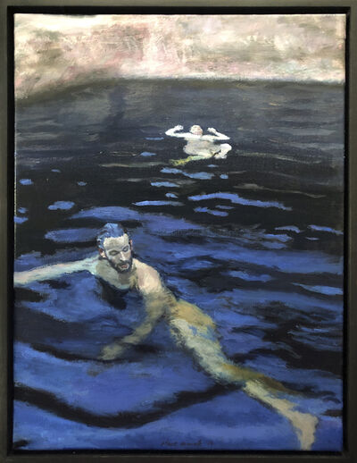 Clare Menck, 'Indigo bather duo ', 2019