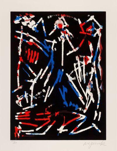 Ralf Winkler (A.R. Penck), 'Mul, Bul Dang & Sentimentality, from Official Arts Portfolio of the XXIVth Olympiad, Seoul, Korea', 1988