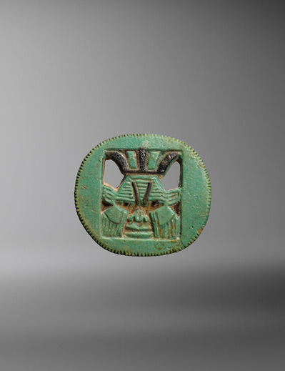 Unknown Egyptian, 'Ancient Egyptian Faience Pendant with the Head of Bes', Third Intermediate Period (ca. 10th-8th century B.C.)