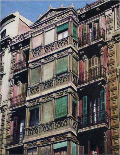 Rudolf Häsler, 'Fachada modernista. Barcelona', 1982