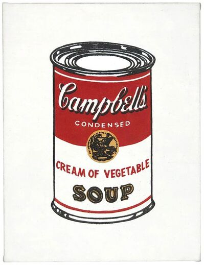"Richard Pettibone, '""Andy Warhol Cream of Vegetable (From 32 Campbell's Soup, 1962)""', 1987"