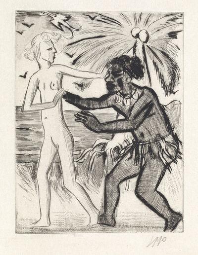 Max Pechstein, 'Yali und sein Weisses Weib', 1923