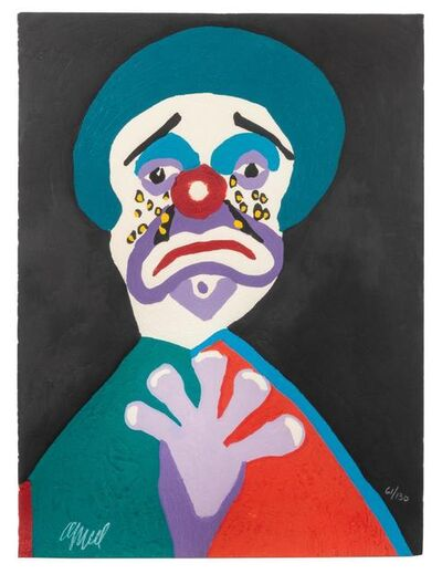 Karel Appel, 'Sad Clown (from Circus)', 1978