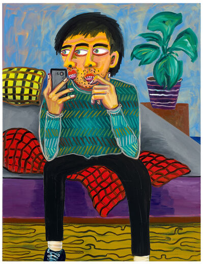 Oska Gutheil, 'Selfie In Bedroom (01)', 2021