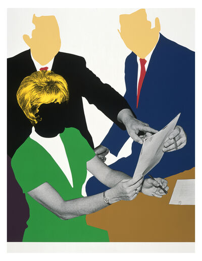 John Baldessari, 'Three Government  Personnel Considering and/or Deciding', 2008