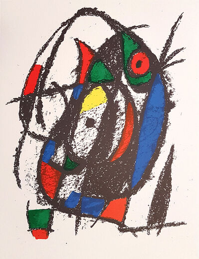 Joan Miró, 'Mirò Lithographe II - Plate IV', 1975