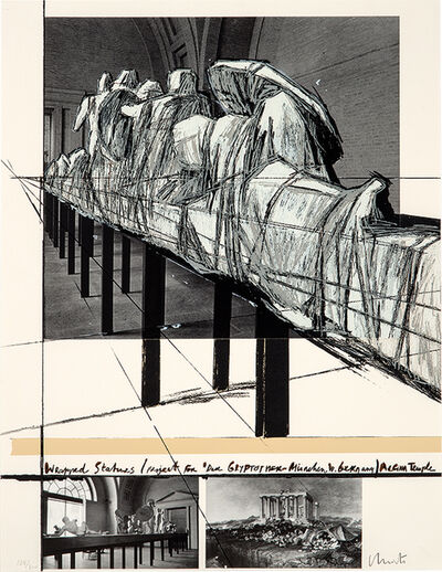 Christo, 'Wrapped Statues Project for Die Glytothek, Munchen', 1988