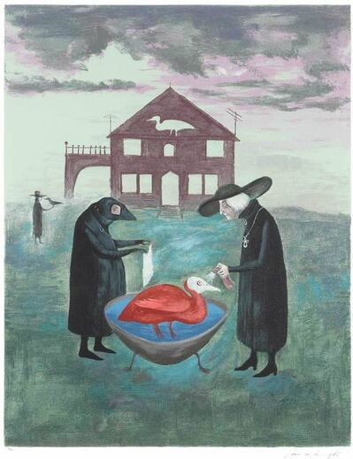 Leonora Carrington, 'Bird Bath', 1974