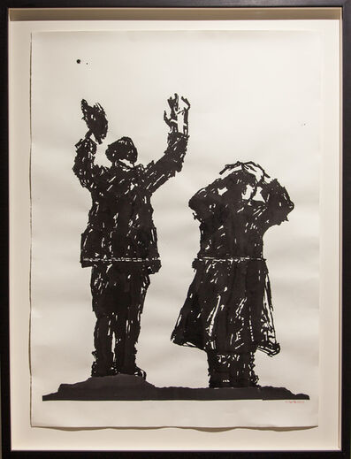 William Kentridge, 'Deportees (drawing for Triumphs and Laments)', 2016