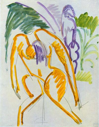 Ernst Ludwig Kirchner, 'Zwei Akte (Fehmarn)', ca. 1913