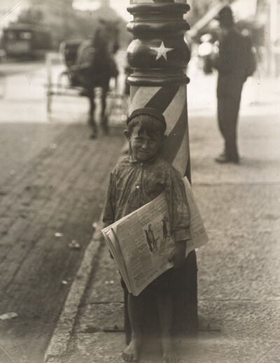 Lewis Wickes Hine, 'A Little Shaver, Indianapolis', 1908-printed ca. 1920