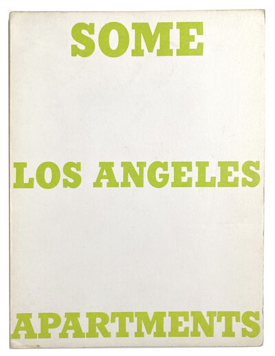Ed Ruscha, 'Some Los Angeles Apartments', 1965